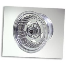Street Pro Alloy 1 Piece Polished 15x10 Convo, 5-114.3/120.66 PCD,4.5' BS Holden,Ford,Chev,Chevy