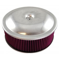 14 X 3 SPUN ALUM AIR CLEANER SET W/WASHABLE ELEMENT(A)