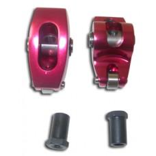 ALUM ROLLER ROCKER ARMS 1.52 7/16 KIT RED