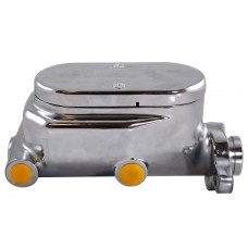 "ALUM MASTER CYLINDER SMOOTH TOP CHROME 1""BORE 4 PORTS"