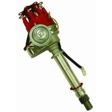Aluminum Chevy HEI Electronic Distributor without Coil - Red Cap