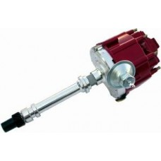 Chrome Aluminum Chevy HEI Electronic Distributor with 50K Coil - Red Cap