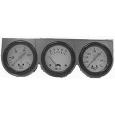"Chrome 2 5/8"" Triple Gauge Kit with Oil Pressure, Voltage & Water Temp"