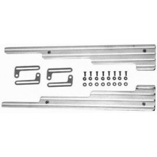 Polished Aluminum 2 Piece Wire Loom with Bracket for Early Model - Ball Milled