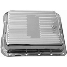 Chrome GM Turbo 700R4 Transmission Pan - Short & Finned