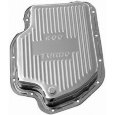 Chrome GM Turbo 400 Transmission Pan - Finned