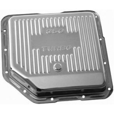 Chrome GM Turbo 350 Transmission Pan - Finned