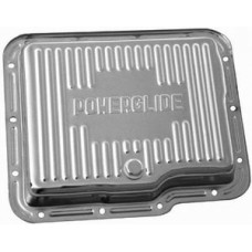 Chrome Chevy Powerglide Transmission Pan - Finned