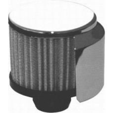 Chrome Push-In Filter Breather with Shield